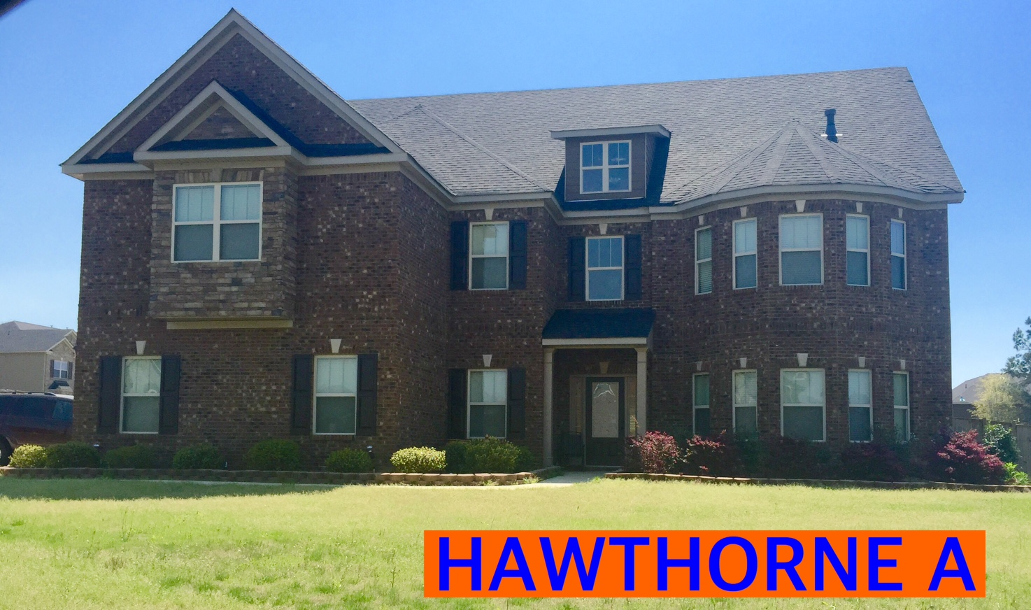 Hawthorne Floorplan Front Elevation